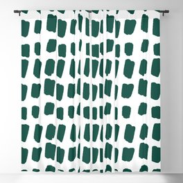 Green Abstract Paint Splotches Blackout Curtain
