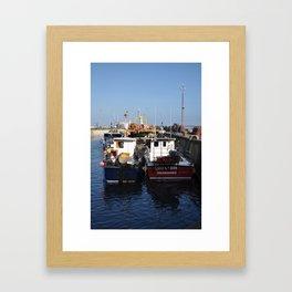 Seahouses Framed Art Print
