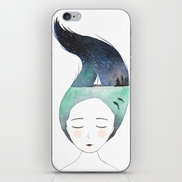 Dreaming about traveling the world iPhone Skin