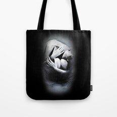 Woman in Black Tote Bag