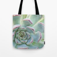 succulent Tote Bags featuring Succulent by Tammy Franck