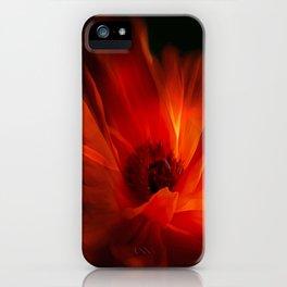 Mohnblüte bei Nacht iPhone Case