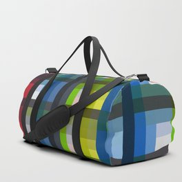 colorful striking retro grid pattern Nis Duffle Bag
