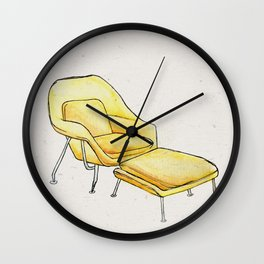 Post Modern Watercolor Chairs Wall Clock