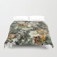 valentina Duvet Covers featuring RPE FLORAL by RIZA PEKER