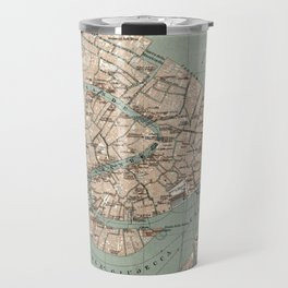 Map of Venice - 1886 Travel Mug
