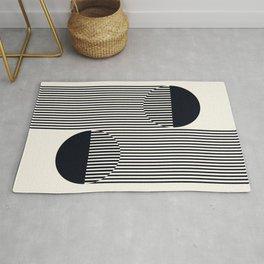 Abstraction_SUN_BLACK_LINE_POP_ART_Minimalism_033B Rug