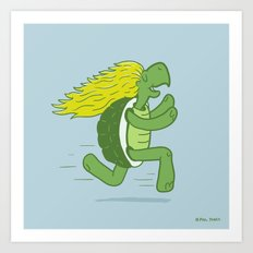 Tortoise and that Hair Art Print