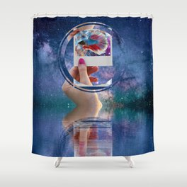 Siamese Fighting Fish by GEN Z Shower Curtain