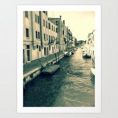 Venezia, where my heart is Art Print