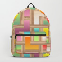 Abstract Colorful Labyrinth Backpack
