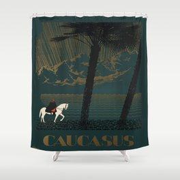 Vintage poster - Caucasus Shower Curtain