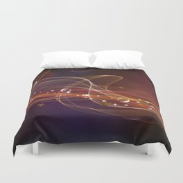 Abstract lines Duvet Cover