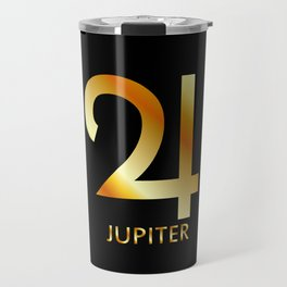 Zodiac and astrology symbol of the planet Jupiter in gold colors Travel Mug