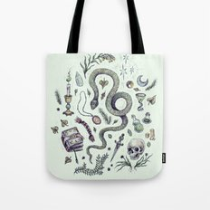 Slytherin, Those Cunning Folk Tote Bag