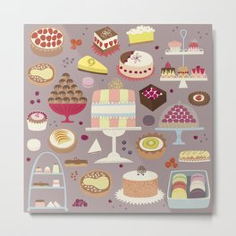 Patisserie Cakes and Good Things Metal Print