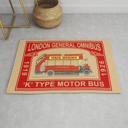 The Vintage London Bus Rug