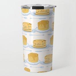 Cute vector homemade pancake day breakfast illustration Travel Mug