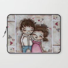 She Believed Him - by Diane Duda Laptop Sleeve