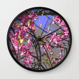 Polarized floral Wall Clock