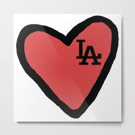 Love LA - Red Metal Print