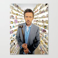 house md Canvas Prints featuring House MD - Colored Pencil Sketch Style by ElvisTR