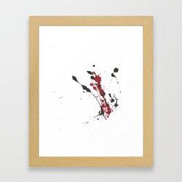 A bottle falls... Framed Art Print