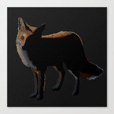 Fox in the Night Canvas Print