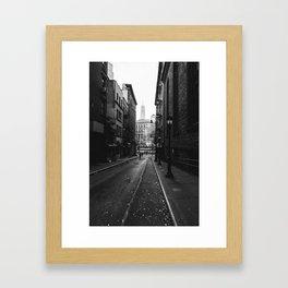 New York City - Alley Framed Art Print