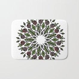 Mandala Wreath: colored florals Bath Mat