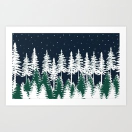 Trees and Stars Abstract iPad Folio Case Art Print