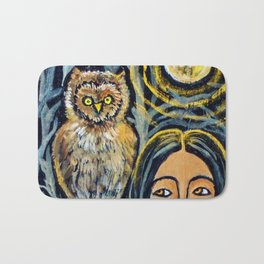 Wisdom Owl * Nature Maiden Bath Mat