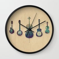 justin timberlake Wall Clocks featuring Good Company by Amy Hamilton