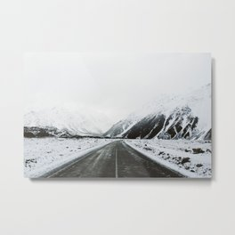 Aoraki Roads Metal Print