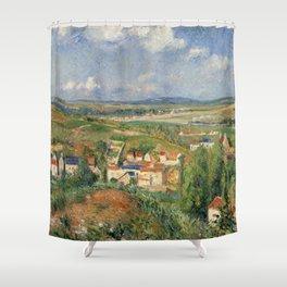"""Camille Pissarro """"L'Hermitage En Été, Pontoise"""" Shower Curtain"""