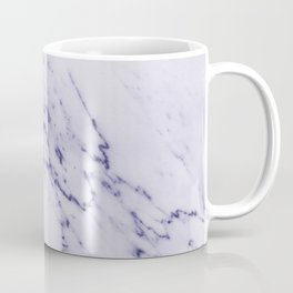 Deep Blue Streaked Marble Coffee Mug