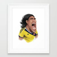 colombia Framed Art Prints featuring Falcao - Colombia by Sant Toscanni