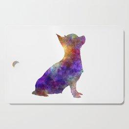 Chihuahua 01 in watercolor Cutting Board