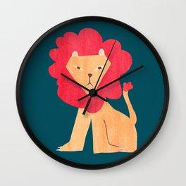Ferocious lion Wall Clock