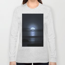 Sunset modified to look like the Moon Long Sleeve T-shirt