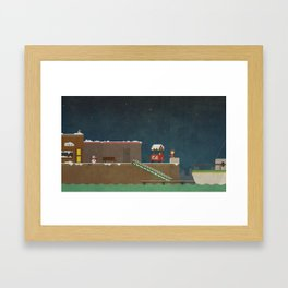Harbor Scene Framed Art Print