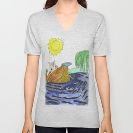 River Swine Unisex V-Neck