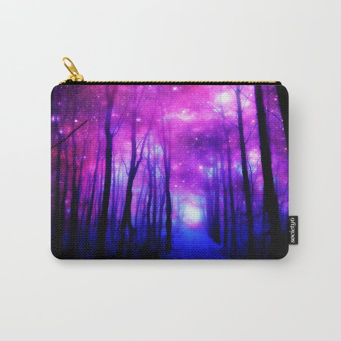 Magical Forest Path Fuchsia Purple Blue Carry-All Pouch