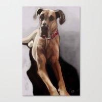 great dane Canvas Prints featuring Great Dane by Elyse Allen