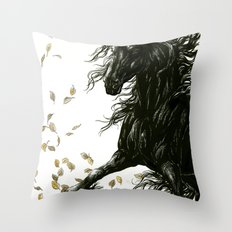 Autumn Friesian Throw Pillow