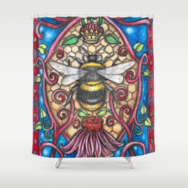 Bee Royalty Shower Curtain