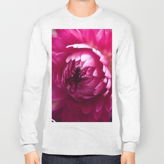 Hot Pink Flower #1 #art #society6 Long Sleeve T-shirt