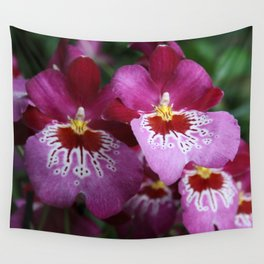 Tropical Flowers Orchids Wall Tapestry