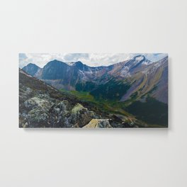Down in the Valley, Pyramid Mt in Jasper National Park, Canada Metal Print