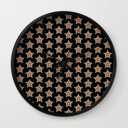 Pattern with stars 1 Wall Clock